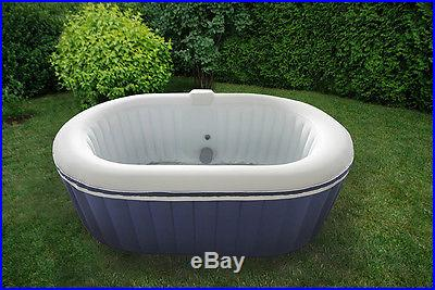 Oval TheraPure Spa Portable Inflatable Hot Tub Bubble Spa TheraPureSpa EST5870