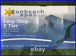 Palm Spas Grey Hot Tub Steps 2 Tier Spa Jacuzzi Whirlpool Spares