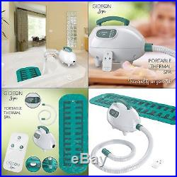 Portable Electric Hot Tub Bubble Bath, Heating and relaxing DIY Home Spa Sauna