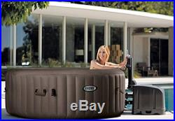 Portable Hot Tub Heated Spa 4 Person Inflatable Massage Jets Cover Bubble