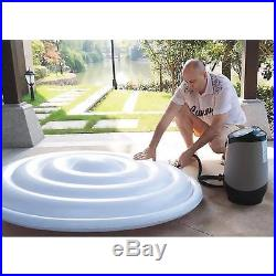 Portable Hot Tub Inflatable Spa Whirlpool Heated 4 Person Capacity Fast Set Up