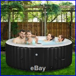 Portable Inflatable Bubble Massage Spa Hot Tub 4 Person Relaxing Outdoor NEW
