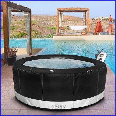 Portable Inflatable Hot Tub Camaro by MSpa, 4 Person Round Bubble Spa in Box