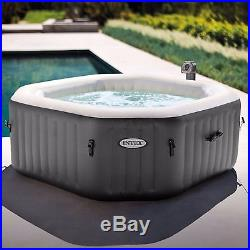Portable Inflatable Hot Tub Spa 4 Person Heated Heated Outdoor Patio Bubble
