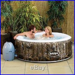 Portable Inflatable Hot Tub Spa 4 Person Outdoor Garden Patio Jacuzzi