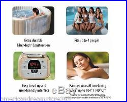Portable Inflatable Jacuzzi Hot Tub Spa Heated Bubble Jets Massage 77in 4 Person