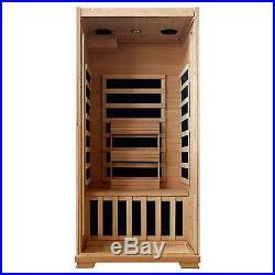 Radiant Saunas 1-Person Hemlock Infrared Sauna with 5 Carbon Heaters