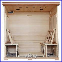 Radiant Saunas 6-Person Cedar Carbon Infrared Sauna with 10 Heaters
