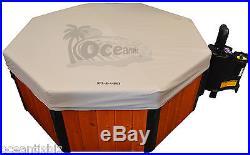 Real Wood Spa-N-A-Box Cypress, 110v Portable Hot Tub with Turbowave, EZ Setup