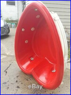 Red Heart Shaped Hot Tub withJets