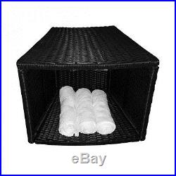 Round Spa Furniture 5-Piece Set Synthetic Wood Hot Tub 72-84 Cushion Included