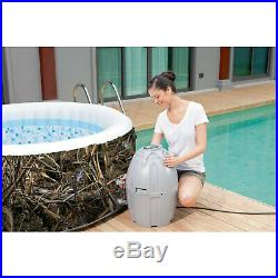 SaluSpa Realtree MAX-5 AirJet 4-Person Portable Inflatable Hot Tub Spa Jacuzzi