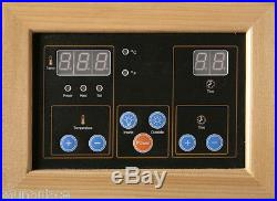 Santa Fe 3 Person Carbon Corner Heatwave Sauna Free Shipping