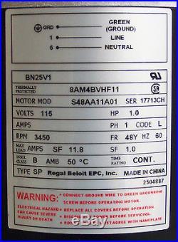 Spa Hot Tub Pump Aqua-Flo, FMHP, 1Hp, 1 Speed, 1.5 Side Discharge, 115 Volts