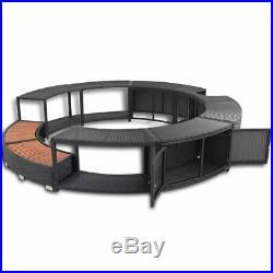 Spa Hot Tub Surround Set Poly Rattan Garden Patio Massage Surrounded Furniture