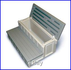 Spa Step Large Hot Tub Stairs Storage Compartment Weatherproof Pool Accessories