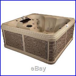 Strong Spas DuraSport G-2 Diamond 6-Person Lounger Spa Hot Tub, Cobblestone