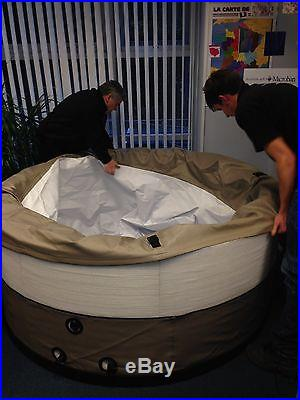 Swift Current 5 PERSON SPA HOT TUB Foam Wall -Air Bubble Massage Jet Brown Tan