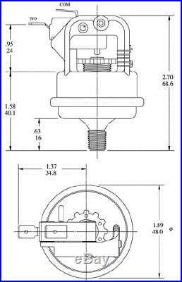 Tecmark spa hot tub heater PRESSURE SWITCH model 4010 P