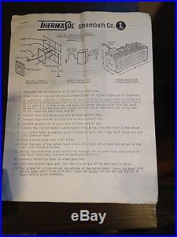 ThermaSol Steam Generator Model 84 with Digital Environmental Control