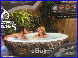 Used Realtree Max-5 Camo Inflatable Portable Hot Tub 2-4 Person