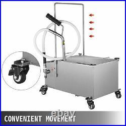 VEVOR 58L Portable Fryer Oil Filter Cart Machine Commercial Filtration System