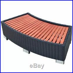 VidaXL Spa Step Poly Rattan Black Deck Patio Hot Tub Bathtub Pool Footstep