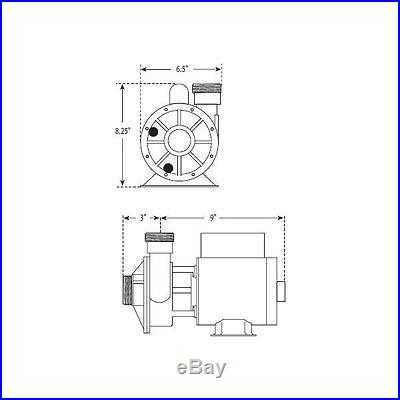 Waterway Iron Might 1/15HP Single-Speed Spa Pump, Circulating Pump 3410030-1E